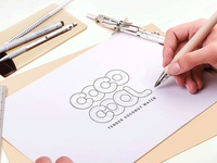 Cococool logo Wireframe Mockup