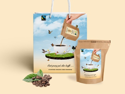 Coffee brewer campagin organic graphic design coffee campaign