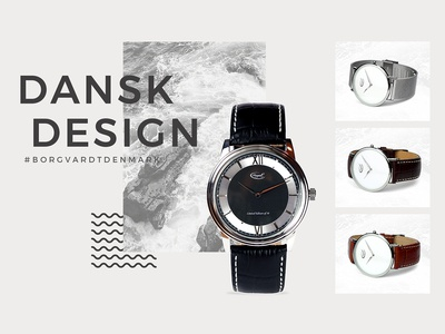Borgvardt Watches graphicdesign web webdesign website