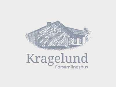 Kragelund Forsamlingshus logo illustration logo branding design