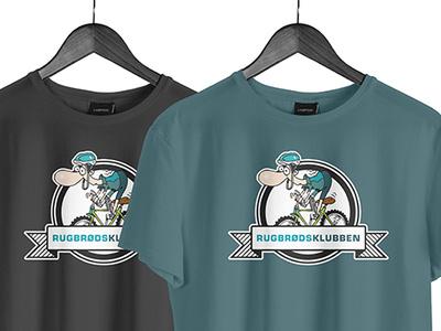 Rugbrødsklubben logo vector illustration logo branding design