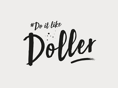 Doitlikedoller typography design