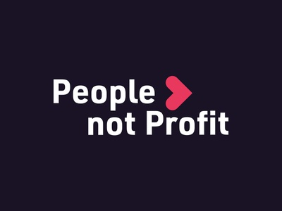 People not Profit charity branding vector icon logo design
