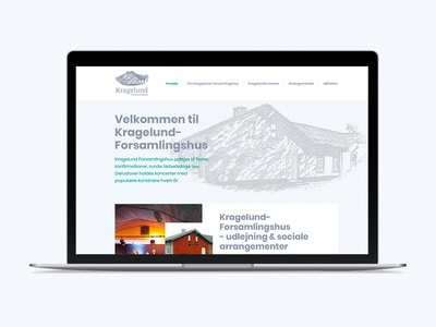 Kragelund Forsamlingshus design graphicdesign redesigned graphic design webdesign redesign