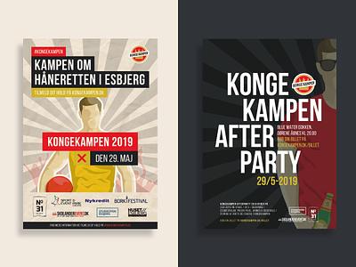 Posters Kongekampen + Kongekampen Afterparty print design poster design print poster posters vector graphic design design