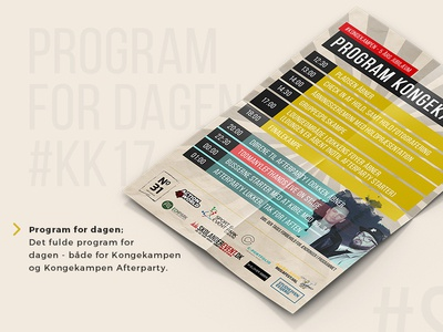 Kongekampen timeplan graphic design graphic graphicdesign branding flyers flyer design