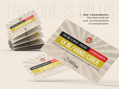 Kongekampen Drink tickets graphic design tickets