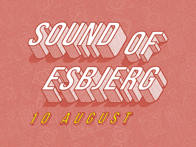 Sound of Esbjerg typography graphicdesign graphic design branding design