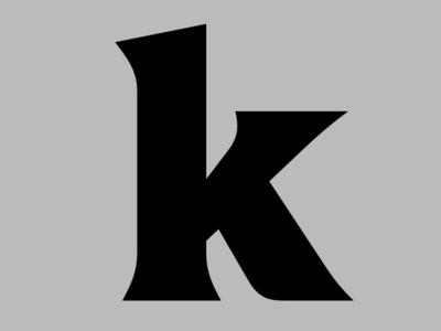 k bold latin font type design type