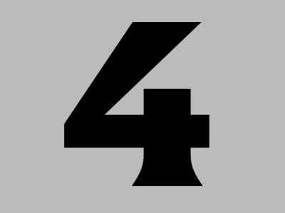 4 bold latin font type design type