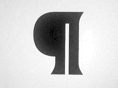 ¶ pilcrow bold latin font type design type