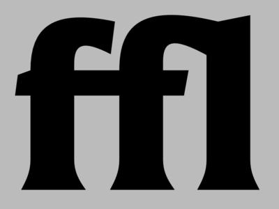 ffl ligature bold latin font type design type