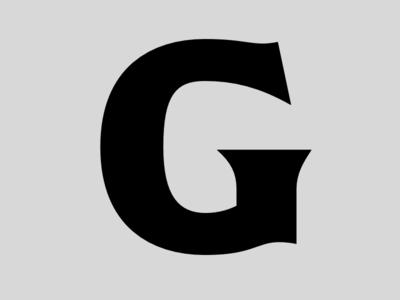G lettering black latin typeface design font typeface