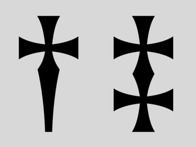 Daggers man font type design typeface dagger deus volt