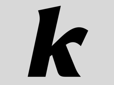 k italic typeface font type design