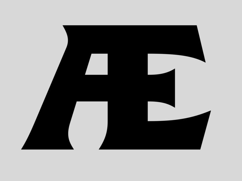 Æ font black latin typeface type design