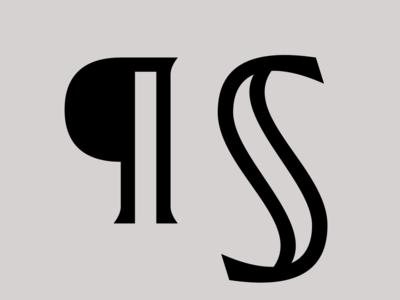¶ § paragraph section latin typeface font type design