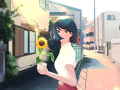 Spring opportunity illustration