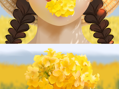 The little yellow flower in the story illustration