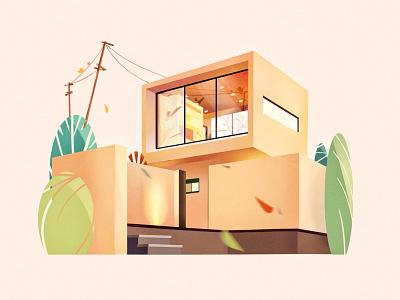 A cabin illustration