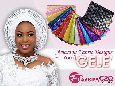 Gele Design for FlakkiesC2QVentures marketing fabrics flakkiesc2qventures