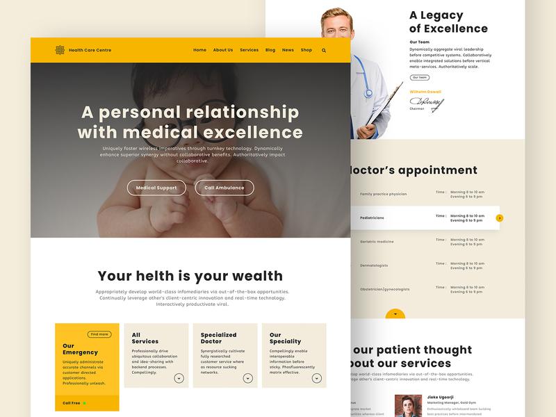 Medical, Landing Page Design pixorus website design web design medical care medical app help medicine medical landing page home page home apps ux vector web concept ux design design minimal ui