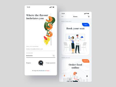 Restaurant app ui design mobile ui mobile log in food app ui delivery app online food food and drink online store food app food restaurant ui  ux ux design app concept clean design minimal ui