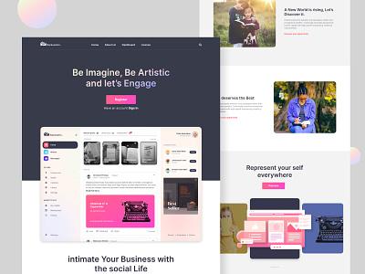Landing Page - Backstories color gradient log in dashboad webdesign workout website web design web ux ui kit ui social mobile minimal landing kit home desktop app