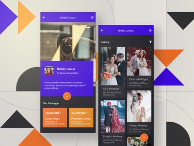 Photographer personal portfolio app design