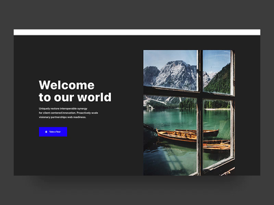 Landing page for tour organiser