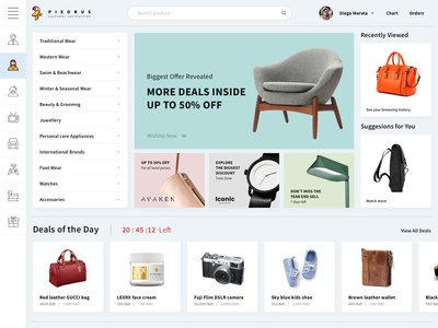 Clean E Commerce Website Idea