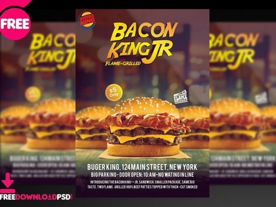 Cheese Burger Flyer PSD Template