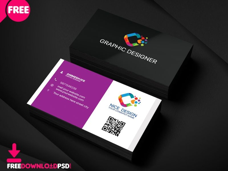 Nice Graphic Designer Business Card By