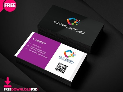 Nice Graphic Designer Business Card