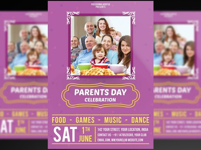 Parents day celebration flyer + Social media post