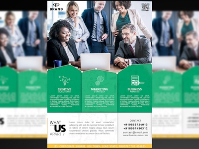 Business Flyer + Social Media Free PSD Template