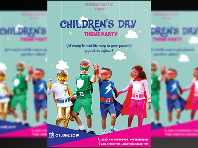 Children's Day Flyer+Social Media PSD