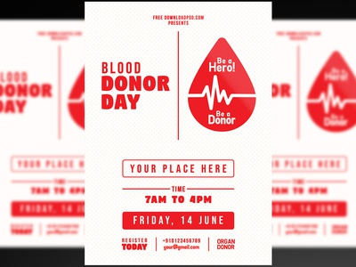 Blood Donor Day Flyer + Social Media