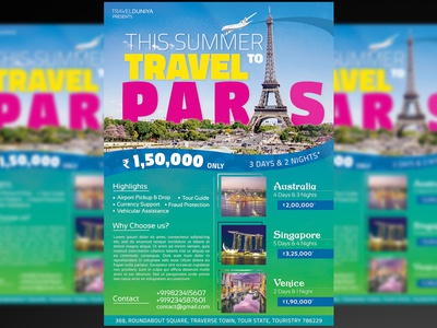 Travel Flyer designs, themes, templates and downloadable graphic