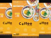 Restaurant Flyer + Social Media Free PSD Template
