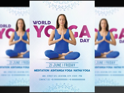 World Yoga Day Flyer+Social Media Post