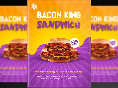 Burger Flyer PSD Template