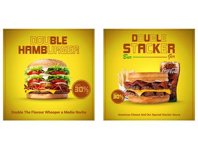 Burger Social Media PSD Template