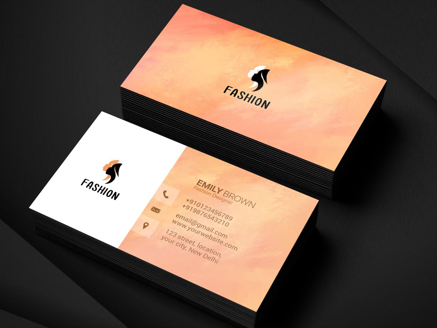 Fashion designer business card mockup1
