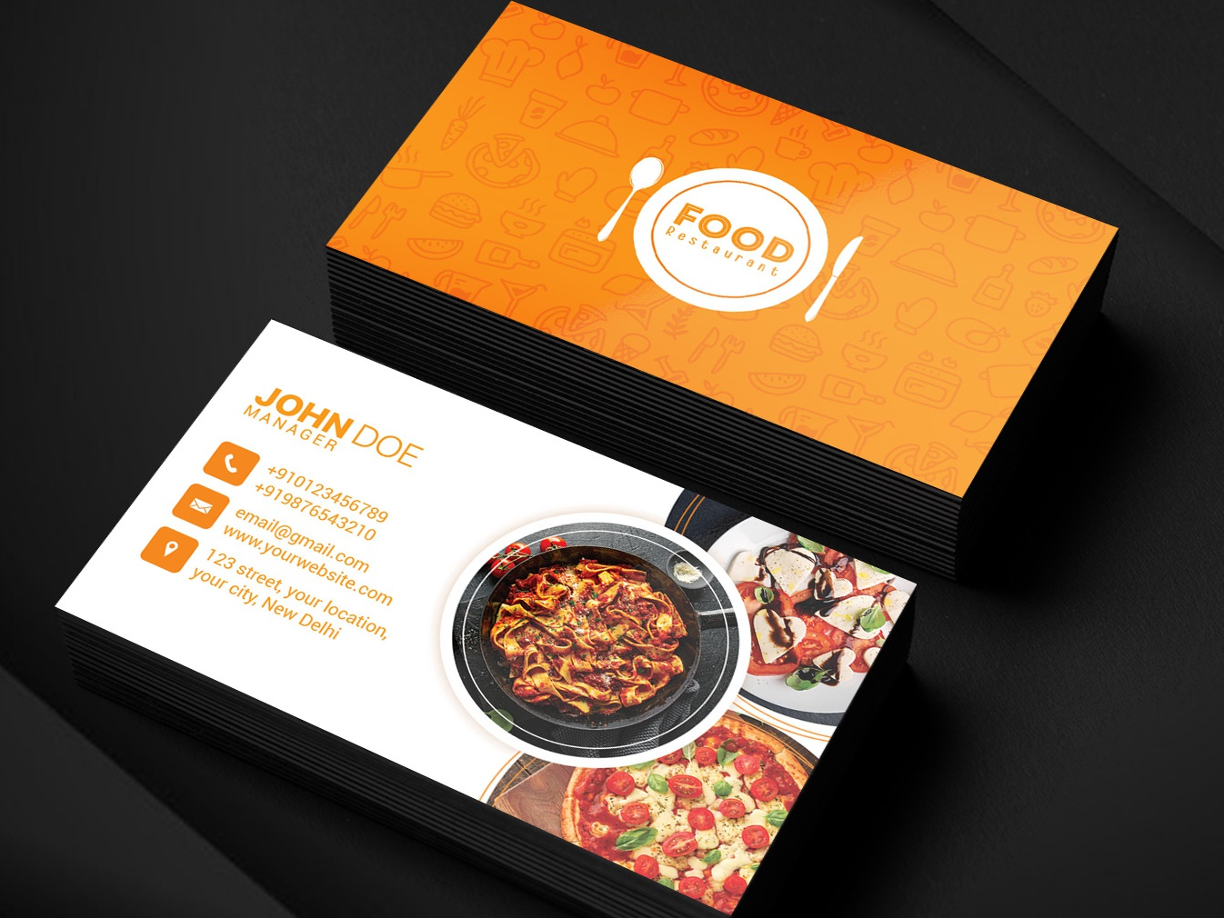 Restaurant Business Card By Pixelsquad On Dribbble