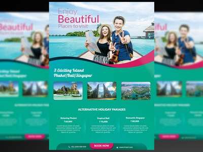 Travel Flyer + Social Media Template