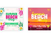 Summer Beach Party Social Media