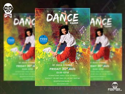 Dance Camp Flyer Free PSD Template dance camp flyer dance camp flyer design flyer design flyer dance camp dance