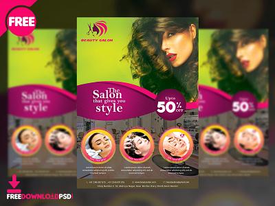 Beauty Salon Flyer Free PSD flyer design design flyer salon flyer beauty flyer beauty salon flyer spa salon beauty