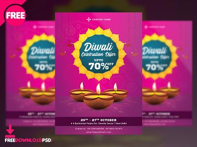 Diwali Sale Flyer Free PSD diwali sale flyer flyer design design free design free psd flyer sale flyer deepawali diwali sale diwali